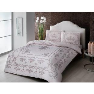 Lenjerie de pat pentru 2 persoane, 4 piese, TAC, din bumbac 100% Ranforce - Klarice