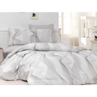 Lenjerie de pat pentru 1 persoana, 3 piese, Bahar Majoli, din bumbac 100% Ranforce - Kludy