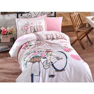 Lenjerie de pat pentru copii, 1 persoana - Clasy, din bumbac 100% - Paris