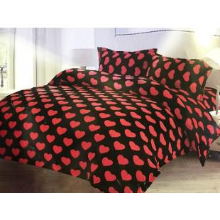 Lenjerie de pat cocolino, pufoasa, pentru 2 persoane, cu 4 piese - Larisa