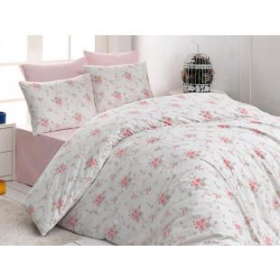 Lenjerie de pat pentru 2 persoane, 4 piese, Bahar Majoli, din bumbac 100% Ranforce - Dora