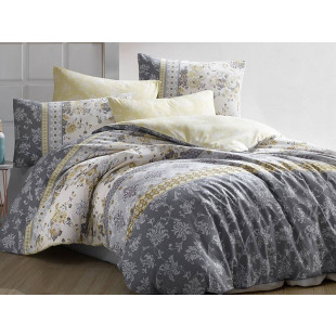 vLenjerie de pat pentru 2 persoane, 4 piese, Bahar Majoli, din bumbac 100% Ranforce - Lisa