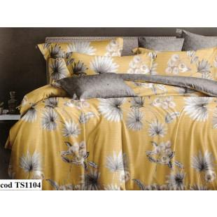Lenjerie de pat bumbac finet (cearceaf cu elastic 160x200 cm), cu 4 piese, pentru 2 persoane, L'atelier Creatif Pucioasa - Luiza
