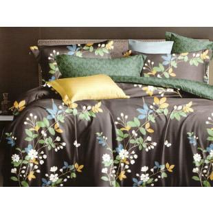 Lenjerie de pat bumbac finet (cearceaf cu elastic 160x200 cm), cu 4 piese, pentru 2 persoane, L'atelier Creatif Pucioasa - Nina