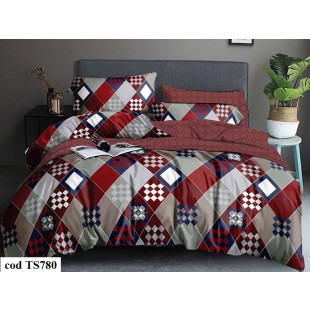 Lenjerie de pat bumbac finet, cu 4 piese, pentru 1 persoana, L'atelier Creatif Pucioasa - Carmina