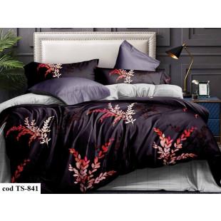 Lenjerie de pat bumbac finet, cu 4 piese, pentru 1 persoana, L'atelier Creatif Pucioasa - Doris