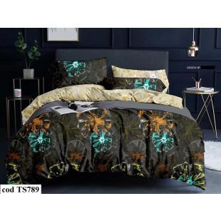 Lenjerie de pat bumbac finet, cu 4 piese, pentru 1 persoana, L'atelier Creatif Pucioasa - Mirabela