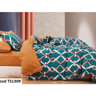 Lenjerie de pat bumbac finet, cu 4 piese, pentru 1 persoana, L'atelier Creatif Pucioasa - Bella