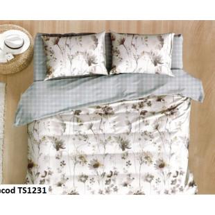 Lenjerie de pat bumbac finet, cu 4 piese, pentru 1 persoana, Pucioasa
