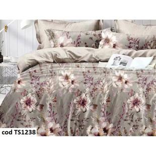 Lenjerie de pat bumbac finet, cu 4 piese, pentru 2 persoane, Dormy Pucioasa