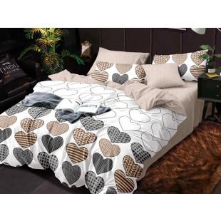 Lenjerie de pat bumbac finet, cu 4 piese, pentru 2 persoane, Dormy Pucioasa - Xena