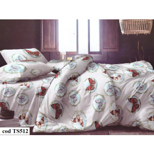 Lenjerie de pat bumbac finet, cu 6 piese, pentru 2 persoane, Dormy Pucioasa - Lisha