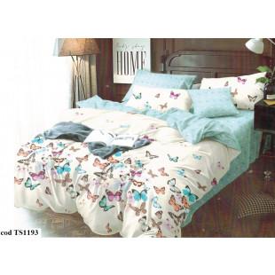 Lenjerie de pat bumbac finet, cu 6 piese, pentru 2 persoane, Dormy Pucioasa - Sandra