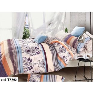 Lenjerie de pat bumbac finet, cu 6 piese, pentru 2 persoane, L'atelier Creatif Pucioasa - Aliss