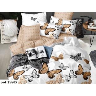 Lenjerie de pat bumbac finet, cu 6 piese, pentru 2 persoane, L'atelier Creatif Pucioasa - Anaia