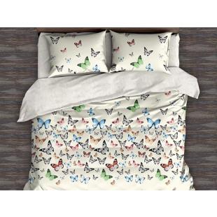 Lenjerie de pat bumbac finet, cu 6 piese, pentru 2 persoane, L'atelier Creatif Pucioasa - Carmen
