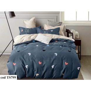 Lenjerie de pat bumbac finet, cu 6 piese, pentru 2 persoane, L'atelier Creatif Pucioasa - Catalina