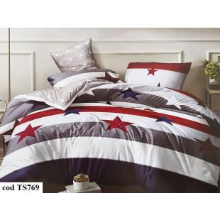 Lenjerie de pat bumbac finet, cu 6 piese, pentru 2 persoane L'atelier Creatif Pucioasa - Crista