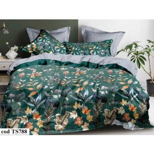 Lenjerie de pat bumbac finet, cu 6 piese, pentru 2 persoane, L'atelier Creatif Pucioasa - Elis