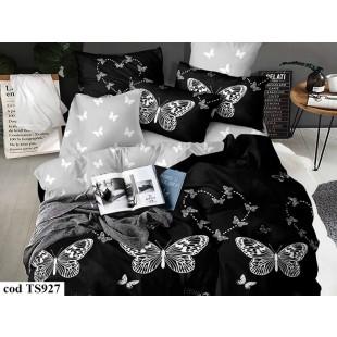 Lenjerie de pat bumbac finet, cu 6 piese, pentru 2 persoane, L'atelier Creatif Pucioasa - Krissa