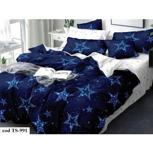 Lenjerie de pat bumbac finet, cu 6 piese, pentru 2 persoane, L'atelier Creatif Pucioasa - Larisa
