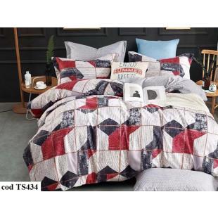 Lenjerie de pat bumbac finet, cu 6 piese, pentru 2 persoane, L'atelier Creatif Pucioasa - Linea