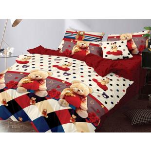 Lenjerie de pat bumbac finet, cu 6 piese, pentru 2 persoane, L'atelier Creatif Pucioasa - Mara