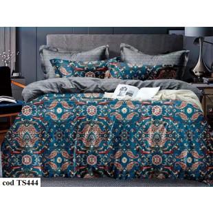 Lenjerie de pat bumbac finet, cu 6 piese, pentru 2 persoane, L'atelier Creatif Pucioasa - Miriam