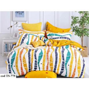Lenjerie de pat bumbac finet, cu 6 piese, pentru 2 persoane, L'atelier Creatif Pucioasa - Olivia