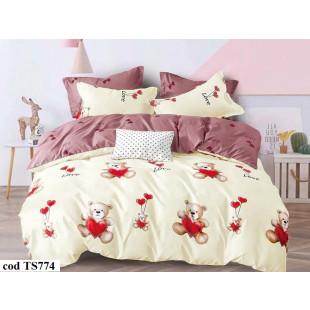 Lenjerie de pat bumbac finet, cu 6 piese, pentru 2 persoane, L'atelier Creatif Pucioasa - Oprah