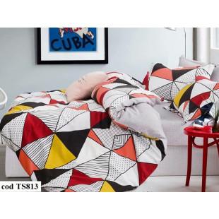 Lenjerie de pat bumbac finet, cu 6 piese, pentru 2 persoane, L'atelier Creatif Pucioasa - Pia