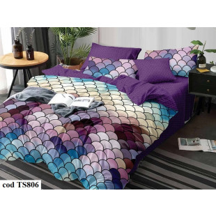 Lenjerie de pat bumbac finet, cu 6 piese, pentru 2 persoane, L'atelier Creatif Pucioasa - Roxy