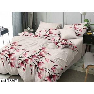 Lenjerie de pat bumbac finet, cu 6 piese, pentru 2 persoane, L'atelier Creatif Pucioasa - Sorina