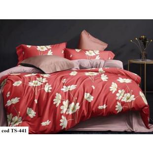 Lenjerie de pat bumbac finet, cu 6 piese, pentru 2 persoane, L'atelier Creatif Pucioasa - Trisha