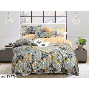Lenjerie de pat bumbac finet, pentru 1 persoana, cu 4 piese L'atelier Creatif Pucioasa - Camelia