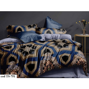 Lenjerie de pat bumbac finet, pentru 1 persoana, cu 4 piese, L'atelier Creatif Pucioasa - Fiona