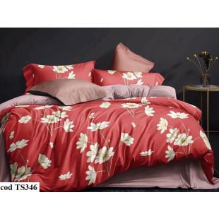 Lenjerie de pat bumbac finet, pentru 1 persoana, cu 4 piese, L'atelier Creatif Pucioasa - Paulina