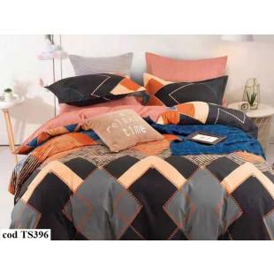 Lenjerie de pat bumbac finet, pentru 2 persoane, cu 4 piese, L'atelier Creatif Pucioasa - Consuela