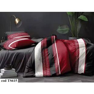 Lenjerie de pat bumbac finet, pentru 2 persoane, cu 4 piese, L'atelier Creatif Pucioasa - Corine