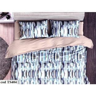 Lenjerie de pat bumbac finet, pentru 2 persoane, cu 4 piese, L'atelier Creatif Pucioasa - Fania