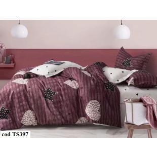 Lenjerie de pat bumbac finet, pentru 2 persoane, cu 4 piese, L'atelier Creatif Pucioasa - Lorina
