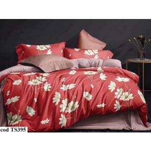 Lenjerie de pat bumbac finet, pentru 2 persoane, cu 4 piese, L'atelier Creatif Pucioasa - Thea
