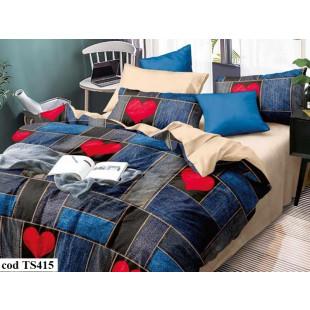 Lenjerie de pat bumbac finet, pentru 2 persoane, cu 4 piese, L'atelier Creatif Pucioasa - Vanesa