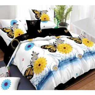 Lenjerie de pat bumbac finet, pentru 2 persoane, cu 6 piese, Ralex Pucioasa - Cosmina