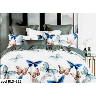 Lenjerie de pat bumbac finet, pentru 2 persoane, cu 6 piese, Ralex Pucioasa - Denisa