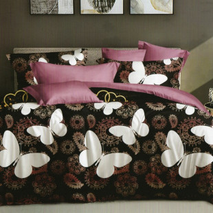 Lenjerie de pat bumbac finet, pentru 2 persoane, cu 6 piese, Ralex Pucioasa - Elisa