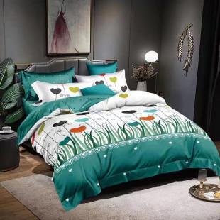 Lenjerie de pat bumbac finet, pentru 2 persoane, cu 6 piese, Ralex Pucioasa - Nadia
