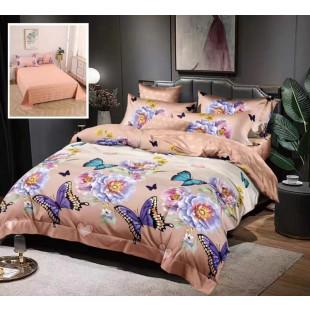 Lenjerie de pat bumbac finet, pentru 2 persoane, cu 6 piese, Ralex Pucioasa - Eveline