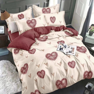 Lenjerie de pat bumbac finet, pentru 2 persoane, cu 6 piese, Ralex Pucioasa - Felicia