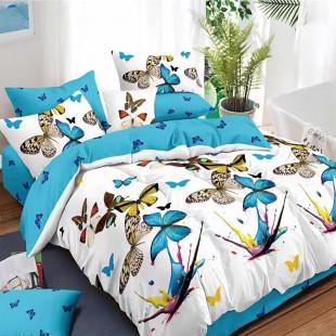 Lenjerie de pat bumbac finet, pentru 2 persoane, cu 6 piese, Ralex Pucioasa - Keyla
